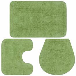 Kylpyhuoneen mattosarja 3 osaa vihreä_1