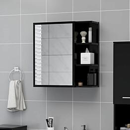 Kylpyhuoneen peilikaappi musta 62,5x20,5x64 cm lastulevy_1