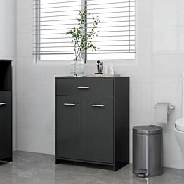 Kylpyhuonekaappi harmaa 60x33x80 cm lastulevy_1