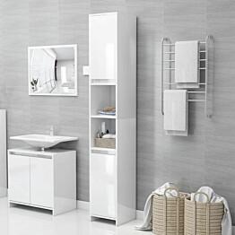 Kylpyhuonekaappi korkeakiilto valkoinen 30x30x183,5cm_1