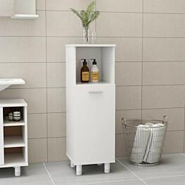Kylpyhuonekaappi korkeakiilto valkoinen 30x30x95 cm_1