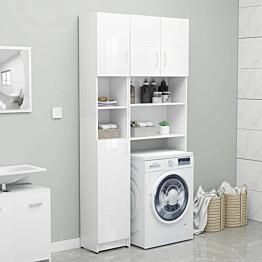Kylpyhuonekaappi korkeakiilto valkoinen 32x25,5x190cm_1