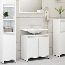 Kylpyhuonekaappi korkeakiilto valkoinen 60x33x58 cm_1