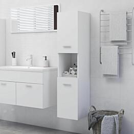 Kylpyhuonekaappi valkoinen 30x30x130 cm lastulevy_1