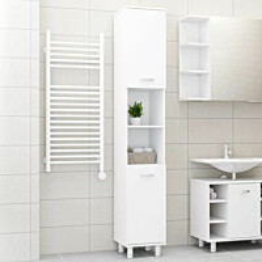 Kylpyhuonekaappi valkoinen 30x30x179 cm lastulevy_1