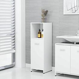 Kylpyhuonekaappi valkoinen 30x30x95 cm lastulevy_1