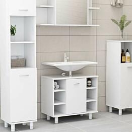 Kylpyhuonekaappi valkoinen 60x32x53,5 cm lastulevy_1