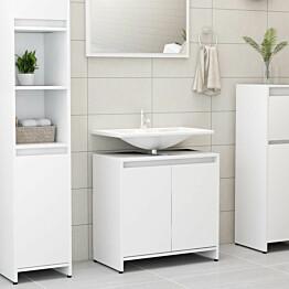 Kylpyhuonekaappi valkoinen 60x33x58cm lastulevy_1