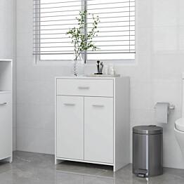 Kylpyhuonekaappi valkoinen 60x33x80 cm lastulevy_1