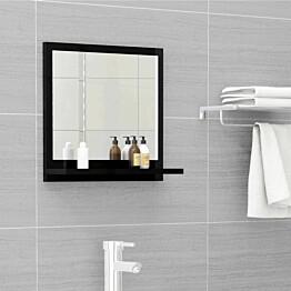 Kylpyhuonepeili korkeakiilto musta 40x10,5x37 cm lastulevy_1