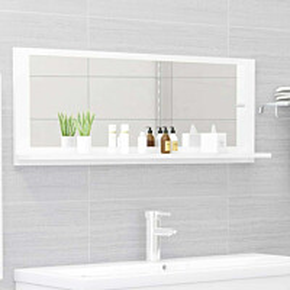 Kylpyhuonepeili korkeakiilto valkoinen 100x10,5x37 cm_1