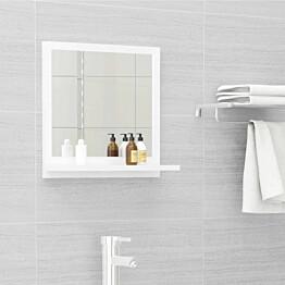 Kylpyhuonepeili korkeakiilto valkoinen 40x10,5x37 cm_1