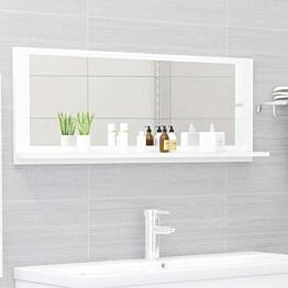 Kylpyhuonepeili valkoinen 100x10,5x37 cm lastulevy_1