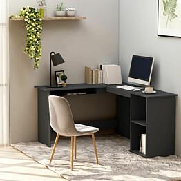 L-muotoinen kulmapöytä harmaa 120x140x75 cm lastulevy_1