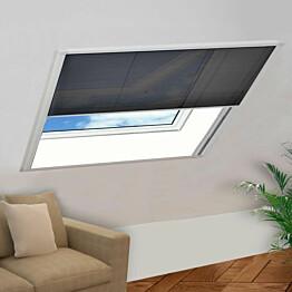 Laskostettu hyönteisverkko ikkunaan 120x120 cm alumiini_1