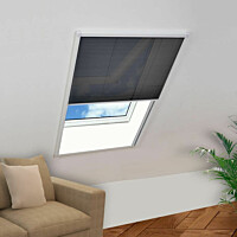 Laskostettu hyönteisverkko ikkunaan 120x160 cm alumiini_1