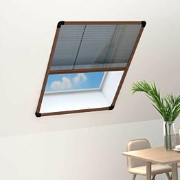 Laskostettu hyönteisverkko ikkunaan 60x80 cm alumiini ruskea_1