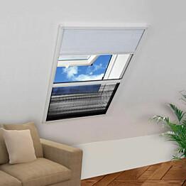 Laskostettu hyönteisverkko ikkunaan 80x120 cm alumiini_1