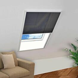 Laskostettu hyönteisverkko ikkunaan 80x120cm alumiini_1