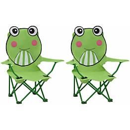 Lasten puutarhatuolit 2 kpl vihreä kangas_1