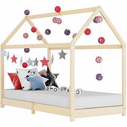Lasten sängynrunko täysi mänty 80x160cm_1