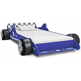 Lastensänky kilpa-auto 90x200 cm sininen_1
