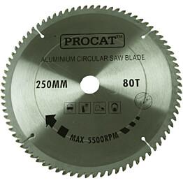 Pyörösahanterä Procat Ø250 mm 80T alumiinille