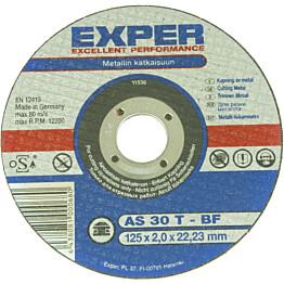 Katkaisulaikka Exper Ø125 mm 2,0 mmmetallille