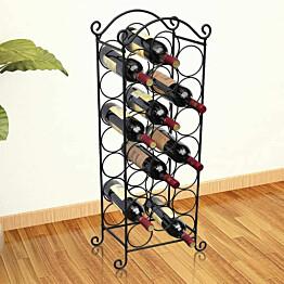 Metallinen viinipulloteline 21 pullolle_1