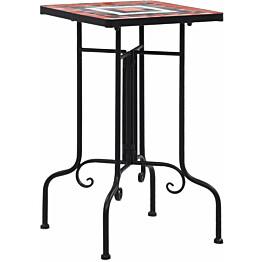 Mosaiikkisivupöytä terrakotta ja valkoinen keramiikka_1