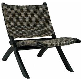 Nojatuoli musta luonnollinen kubu-rottinki ja täysi mahonki_1