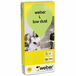 Pohjatasoite Weber Vetonit L low dust 20 kg
