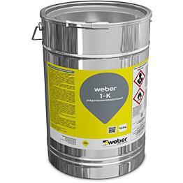 Polyuretaanielastomeeri Weber 1-K RAL7035 12,5 kg