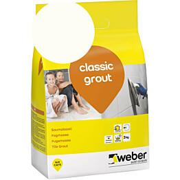 Saumalaasti Weber classic grout 11 White 3 kg