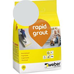 Saumalaasti Weber rapid grout 13 Silver grey 3 kg
