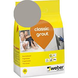 Saumalaasti Weber classic grout 17 Medium grey 3 kg