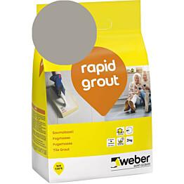 Saumalaasti Weber rapid grout 17 Medium grey 3 kg