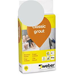 Saumalaasti Weber classic grout 13 Silver grey 15 kg