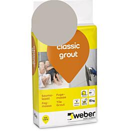 Saumalaasti Weber classic grout 14 Smoke 15 kg