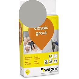 Saumalaasti Weber classic grout 16 Grey 15 kg