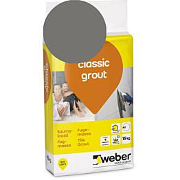Saumalaasti Weber classic grout 18 Dark grey 15 kg
