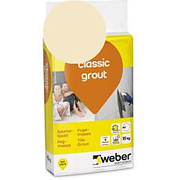 Saumalaasti Weber classic grout 31 Cream 15 kg