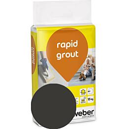 Saumalaasti Weber rapid grout 20 Graphite 15 kg