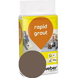 Saumalaasti Weber rapid grout 36 Mocca 15 kg
