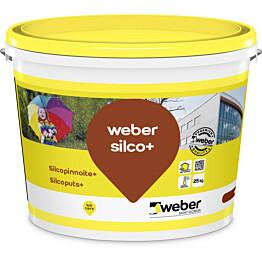 Silikonihartsipinnoite Weber Silcopinnoite+ 1,0 mm tilausväri 25 kg