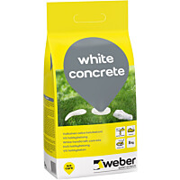 Valkobetoni Weber White Concrete 5 kg
