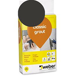 Saumalaasti Weber Classic Grout 20 Graphite 15 kg