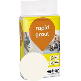 Saumalaasti Weber Rapid Grout 12 Marble 15 kg