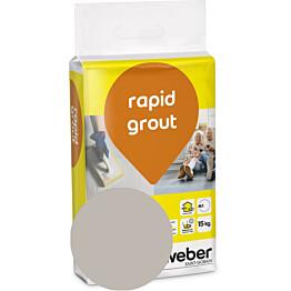 Saumalaasti Weber Rapid Grout 14 Smoke 15 kg