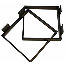Pöydänjalka Pihlaja J9 450 x 450 mm 2 kpl musta
